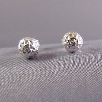 Sterling silver stud earrings, 24k gold plate stud earrings on SALE+ 20% off