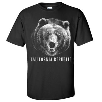 California Republic Grizzly Bear Asst Colors T-shirt/tee