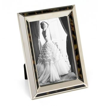 "Maxxi Designs Photo Frame with Easel Back, 5 x 7"", Nickel Plated Tortoise Decor Cosmo"