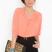 Hampton Blouse in  What's New at Nasty Gal