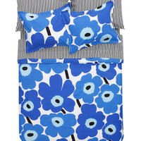 Home Decor: Unikko blue full/queen duvet | Marimekko Store