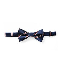 Striped Bow Tie Navy/Burgundy One