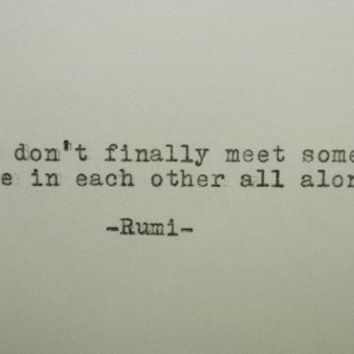 Rumi Love Quote Hand Typed Typewriter With Vintage Art Paper Goods Cards