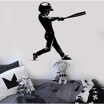 Vinyl Wall Decal Baseball Boy Player Child Kids Room Stickers Unique Gift (ig4224)