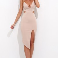 Fight For You Midi Dress Nude