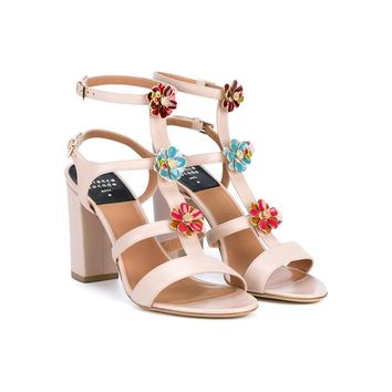 LAURENCE DACADE | Leonie Floral Embellished Leather Sandals | Womenswear | Browns Fashion