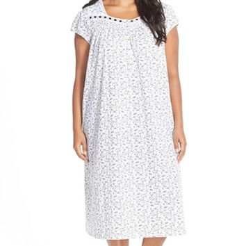 Plus Size Women's Eileen West 'Berry Patch' Ballet Nightgown,