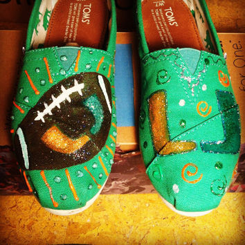 University of Miami TOMS, Vans, Keds or Converse