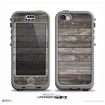 The Rough Wooden Planks V4 Skin for the iPhone 5c nüüd LifeProof Case