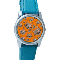 Cute Happy Cats Pattern Wrist Watch