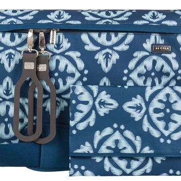 JJ Cole All Around Baby Diaper Bag with Changing Pad - Aqua Ikat