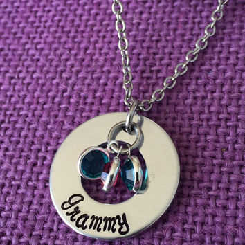 Mom Necklace - Mother's Day Gift - Greatest Blessings - Birthstone Jewelry - Mothers Necklace - Grammy - Mama - Gran - children