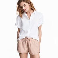 H&M Short-sleeved Cotton Shirt $9.99