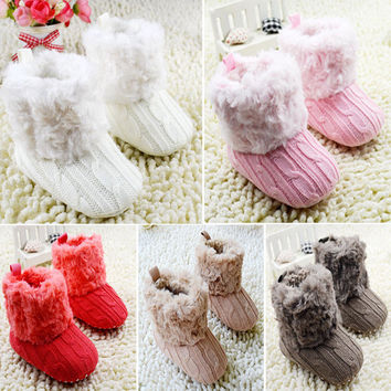 Baby Knit Fleece Winter Booties