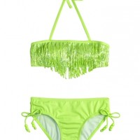 Solid Fringe Bikini Swimsuit | Girls Bikinis Swimsuits | Shop Justice