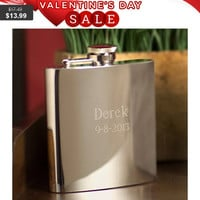 Personalized 7 oz. High Polish Stainless Steel Flask Personalized 7 oz. High Polish Stainless Steel Flask