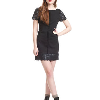 Plenty By Tracy Reese Faux Leather Trimmed Shift Dress