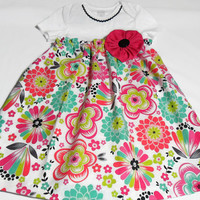 Baby Dress,  Bodysuit Dress, Baby Summer Dress, Onesuit Dress