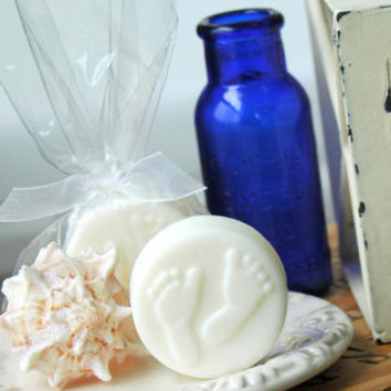50 . Beach Bridal Shower Favors . FOOTPRINT Soap Favors . Beach Wedding Favors . Nautical Wedding . Shower Favors . Gifts for Guests