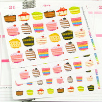 Cake Slices Planner Sticker for Erin Condren Life Planner (ECLP) Reminder Sticker