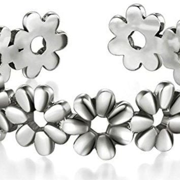 925 Sterting Silver Toe Ring Daisy Flower Hawaiian Adjustable Band Ring