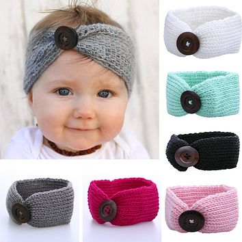 Baby Girl Wool Knitted Headbands Winter Kids Newborn Hair Head Wrap Turban Headband Headwear Infant Hair Head Wrap Accessories
