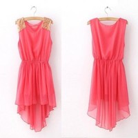 Fashion Sleeveless Chiffon Dress | Eco-friendly Items In Summer
