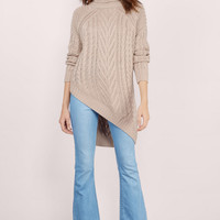 Essue Driftwood Cable Knit Sweater $64