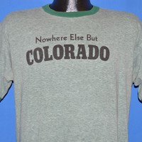 80s Nowhere Else But Colorado Green t-shirt Large