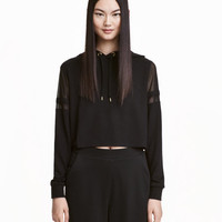 Hooded Top with Mesh Details - from H&M