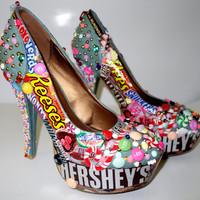 Candy Custom Made High Heels. Hand Made Candy Shoes