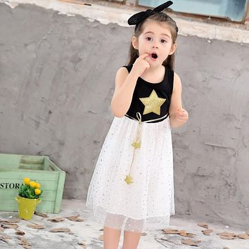 Girls Dress 2017 Summer Girls Dresses 2-12t Sequin Dresses Kids Clothes Cotton Children's Clothing Christmas Dressparty Costume