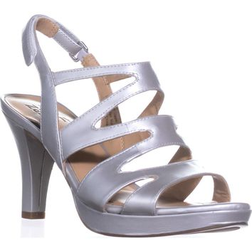 naturalizer Pressley Platform Strappy Dress Sandals, Soft Silver, 7 W US