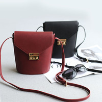Bags Lock Casual Simple Design Korean Vintage Shoulder Bags [4915812932]