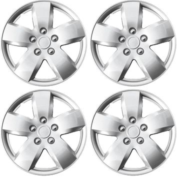 "4-Piece Set Silver ABS 16"" Wheel Cover Hub Caps fits 2007 2008 NISSAN ALTIMA"