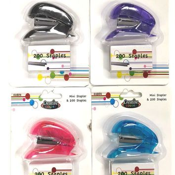 Mini Stapler with Staples - CASE OF 48