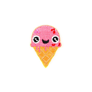 Ice Cream Face Mini Sticker Patch