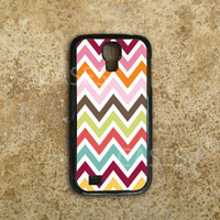Galaxy S4 Case - Custom Samsung Galaxy S4 Cover - Colorful Chevron Pattern Cute - Top Accessories for Samsung S4 - Hard Protective Case