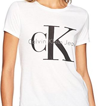Jeans Women's Short Sleeve Monogram Logo T-Shirt