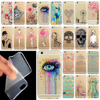 """Phone Case Cover For iPhone 6  6S 4.7""""  Ultra Soft Silicon Transparent Cute Shoes Girl Flowers Animals Patterns  Mix"""
