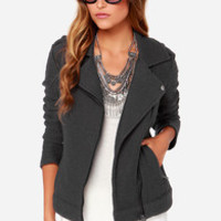 BB Dakota Allesa Grey Sweater Jacket