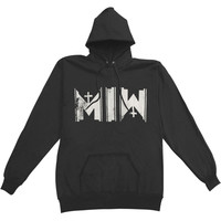 Motionless In White Men's  Middle Finger Hooded Sweatshirt Black Rockabilia