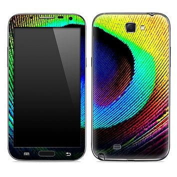 Neon Peacock Feather Detail Skin for the Samsung Galaxy Note 1 or 2