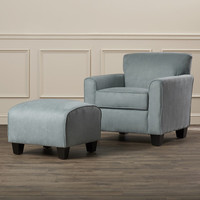Darby Home Co Phyllis Arm Chair and Ottoman Set