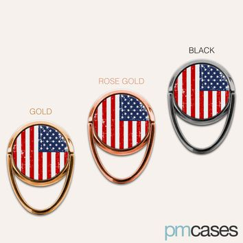 American Flag USA Phone Ring Finger Holder Mount Stand Grips