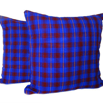 Masai pillow cover