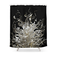Society6 Curls Shower Curtain