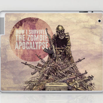 How I Survived The Zombie Apocalypse Laptop & iPad Skin by Eric Fan | Society6