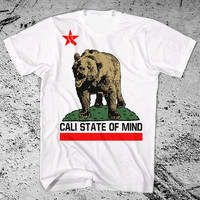California Bear Shirt Cali State of Mind. Pick your color shirt. all sizes available