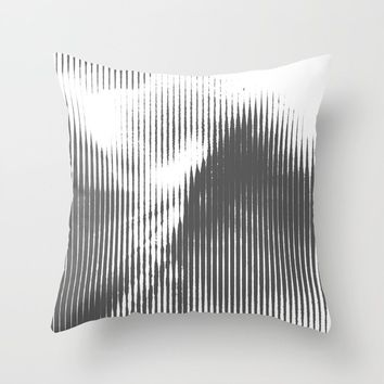 Grays Throw Pillow by duckyb